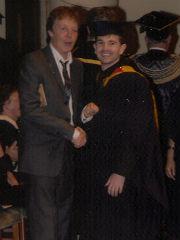 Craig with Sir Paul McCartney at his graduation from LIPA